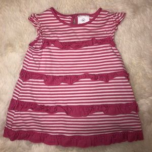 Hanna Andersson Striped Pink Dress, 60cm/3-6 Mths